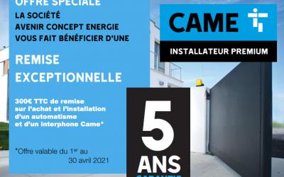 ACE – CAME PRIME A LA CASSE 300€